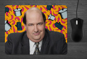 Kevin from the Office Mouse Pad  | Dab Mat the Office tv show gifts Famous Chili Kevin Malone accountant coworker gifts Dunder Mifflin