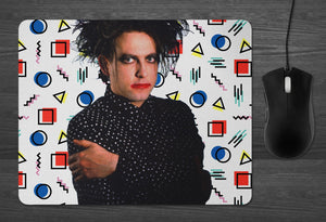 Robert Smith of The Cure Mouse Pad  |  GOTH 80s nostalgia fat bob is everything head on door gifts for music lovers boyfriend girlfriend