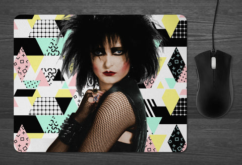 Siouxsie Mouse Pad  | dab mat sioux Banshees 80s goth goddess Gifts for Her boyfriend gifts for Him girlfriend PUNK new wave Perfection