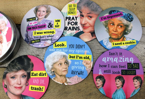 Golden Girls Quotes Coaster Set