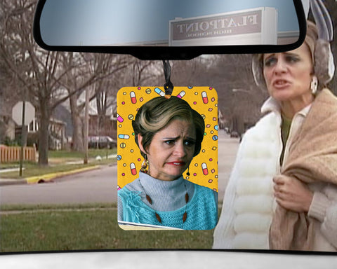 Jerri Blank car Air Freshener  | Strangers With Candy scented gifts for her Amy Sedaris  the best Girlfriend Gifts Easter boozer user loser
