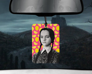 Wednesday Addams car Air Freshener  | Addams Family Pink Lemonade scented gifts for her Girlfriend goths Gomez Morticia Christina Ricci