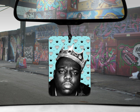 Notorious BIG car Air Freshener  | scented Biggie Smalls gifts for him Boyfriend HIP HOP legend Juicy rapper Big Poppa