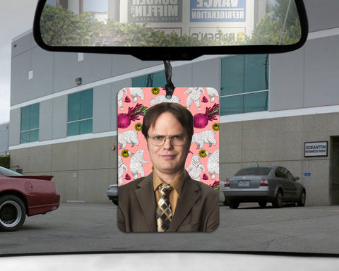 Dwight Schrute car Air Freshener  |  The Office Honey scented gift for him her Boyfriend GIRLfriend Dunder Mifflin