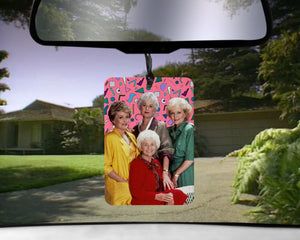 Golden Girls car Air Freshener  | Rose scented gifts for her Girlfriend Boyfriend gift for Blanche dorothy sophia Funny Air Fresheners