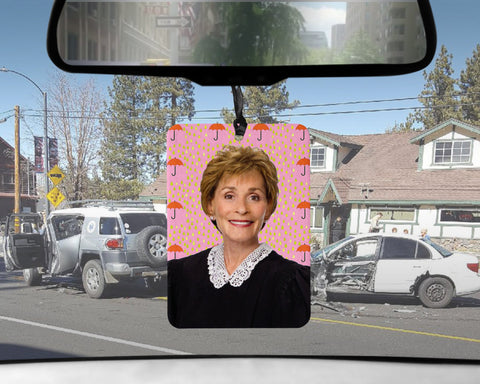 Judge Judy car Air Freshener  | tv court of laws APPLESAUCE scented gifts for him Boyfriend gift for her Girlfriend Funny Air Fresheners