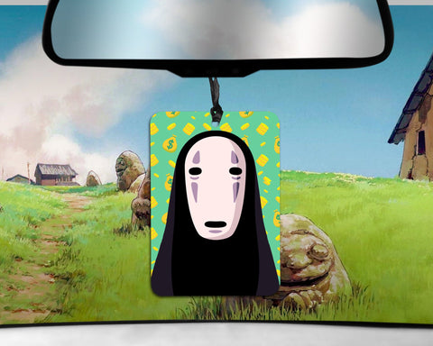 No Face car Air Freshener  | Spirited Away Studio Ghibli cake scent gifts for him Boyfriend gift  her Girlfriend Funny Air Fresheners Anime