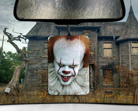 Pennywise 2017 car Air Freshener  | Stephen King IT carnival scented gifts for him Boyfriend gift her Girlfriend Funny Air Freshener HORROR