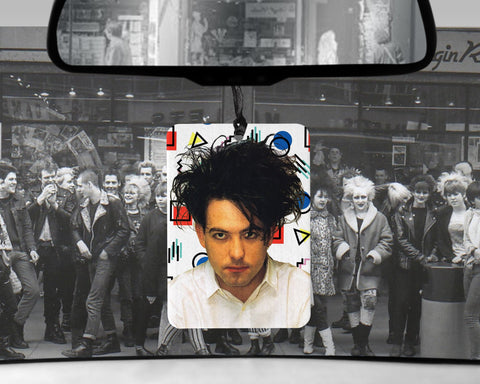 Robert Smith car Air Freshener  | The Cure goth scented gifts for him Boyfriend gift her Girlfriend Funny 80s music New Wave gift