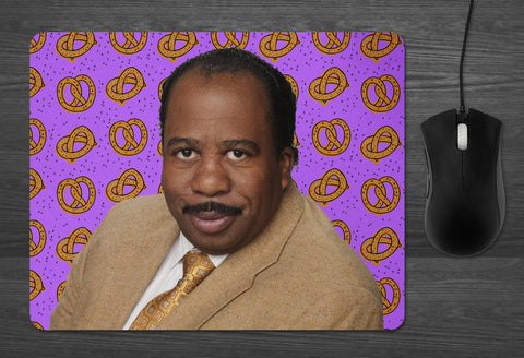 Stanley the Office Mouse Pad  | Dab Mat Pretzel Day stanley hudson tv show gifts for silly people