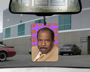 Stanley Hudson car Air Freshener  | The Office pretzel scented gift for him her Boyfriend GIRLfriend Dunder Mifflin