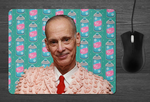 John Waters Mouse Pad  |  hairspray Ultra Clutch coworker gifts Best Friends Boyfriend girlfriend present Baltimore icon Gay Drag Queen