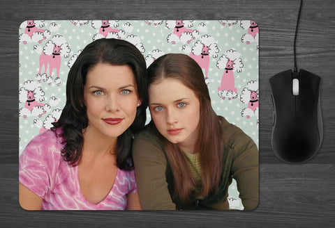 Gilmore Girls Mouse Pad  | dab mat Lorelai Rory gifts for her Girlfriend best friend gifts tv show stars hollow Lukes coffee Oy with Poodles