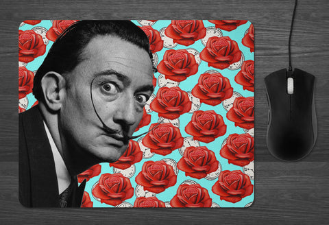 Salvador Dali Mouse Pad |  Dab Mat Surrealist Art museum gift shop coworker gifts Best Friends Boyfriend girlfriend present meditative rose