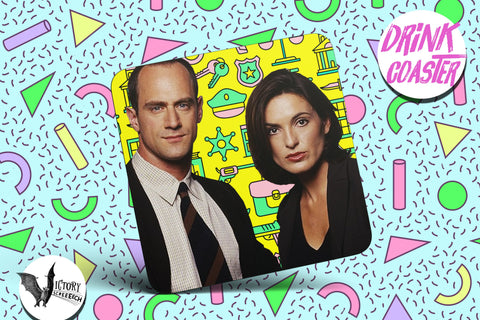 Law and Order SVU Drink COASTER  | tv Elliott  Olivia gifts for him Boyfriend gift her Girlfriend crime drama Stabler and Benson bff gifts