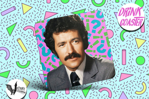 Alex Trebek Drink COASTER  | Jeopardy game show gifts for him Boyfriend gift her Girlfriend trivia master gifts for 5 and under