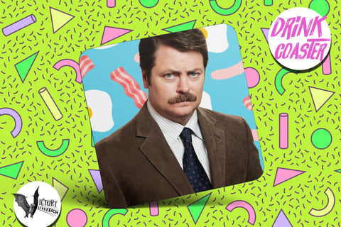 Ron Swanson Drink COASTER  | tv Parks and Rec gifts for him Boyfriend gift her Girlfriend Nick Offerman Pawnee