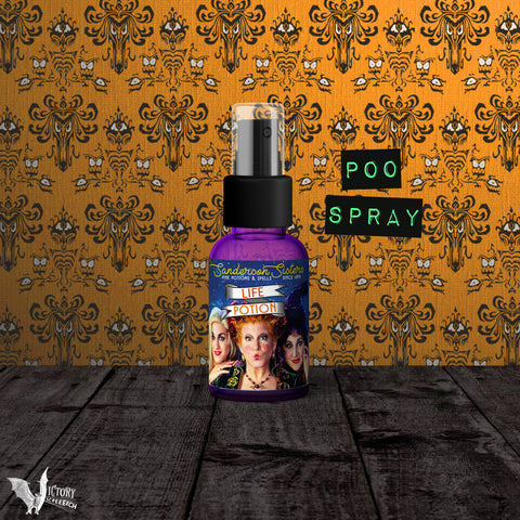 Hocus Pocus Toilet Odor Spray |  Sanderson Sisters poo spritz Life Potion parody REALLY WORKS