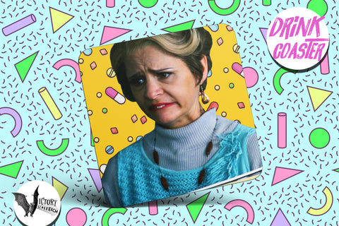 Jerri Blank Drink COASTER  | tv Strangers With Candy gifts for him Boyfriend gift her Girlfriend amy sedaris is the funniest person ever