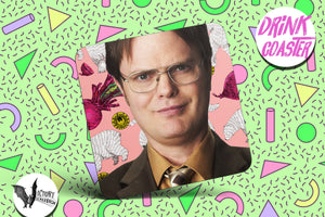 Dwight Schrute Drink Coaster