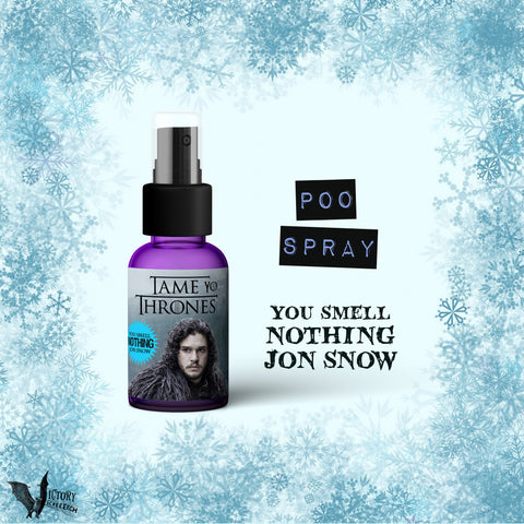 Tame Yo Thrones Toilet Odor Spray  | You SMELL nothing Jon Snow poo spritz Game of Thrones parody REALLY WORKS
