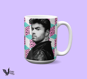 George Michael Wham MUG  | 80s music icons Gay Pride vaporwave Gifts for Music Lovers LGBT PoP star RIP gifts for her him  Lgbtq