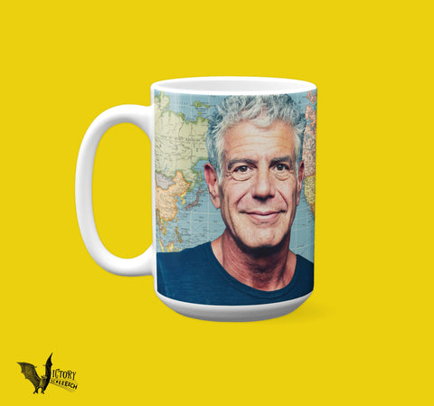 Anthony Bourdain Mug  | Parts Unknown Tribute Gifts for HER girlfriend boyfriend HIM traveller gifts foodie gifts RIP you are missed