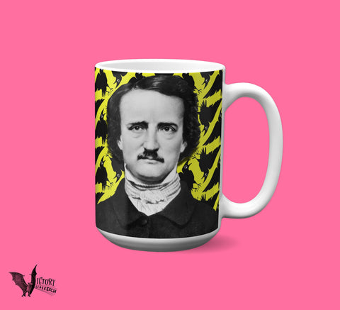 Edgar Allan Poe MUG |  Raven Gifts for Horror Fans goth gifts POET quoth the raven Nevermore Literary Gifts for Librarians Writers Baltimore