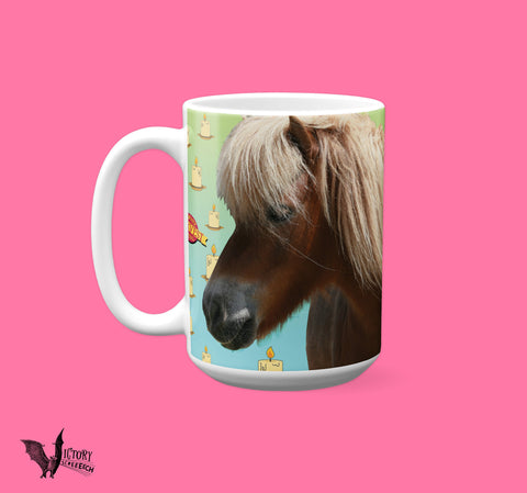 Lil Sebastian MUG  | Parks and Recreation show gifts for galentines Pawnee Little Sebastien Harvest Festival miniature horse Candles Tribute