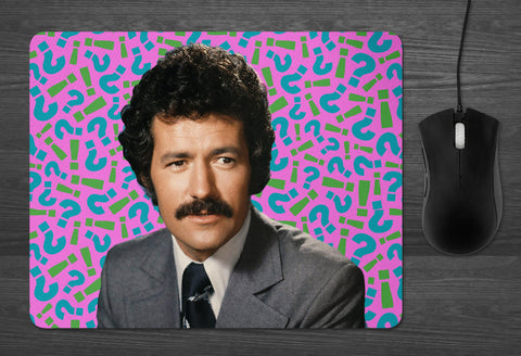 Alex Trebek Mouse pad  | Dab Mat girlfriend gifts boyfriend gifts DAD gift Trivia lover Jeopardy