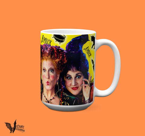 Hocus Pocus Mug  | Sanderson Sisters gifts for her Girlfriend funny mugs Halloween Binx black cat