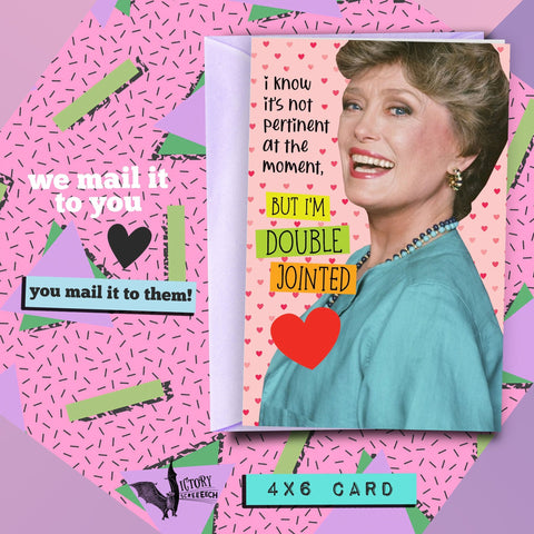 Blanche Devereaux Valentine Romance Card | Golden Girls funny cards for him Boyfriend Girlfriend