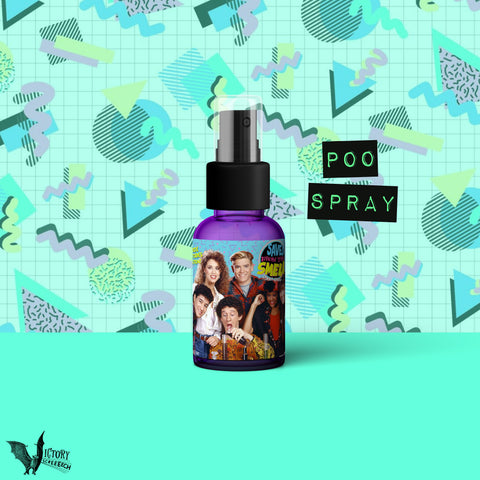 Saved By the Bell Toilet Odor Spray  | bathroom poo spritz parody REALLY WORKS zack morris Kelly Kapowski Screech slater Mr Belding