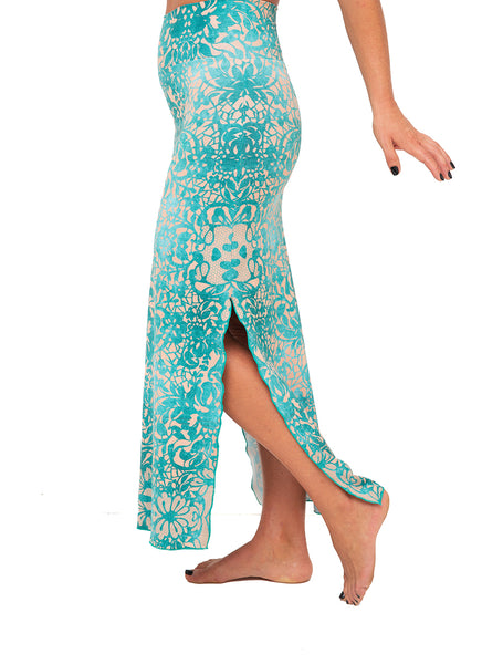 Jade Lace Maxi Skirt