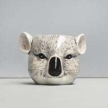Load image into Gallery viewer, ceramic koala planter cute home decor animal lover present pot plant garden succulent pot pen holder cute present