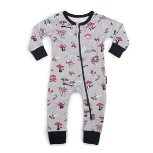 aster and oak chameleon zip romper baby size 000 boy or girl organic cotton