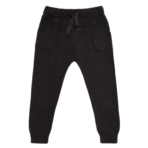 miann and co cotton knit pants charcoal
