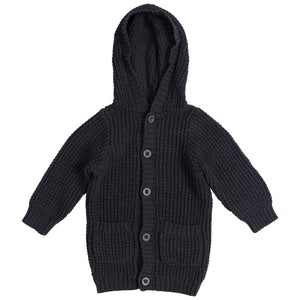 miann and co charcoal waffle knit hoodie cardigan autumn and winter 2020
