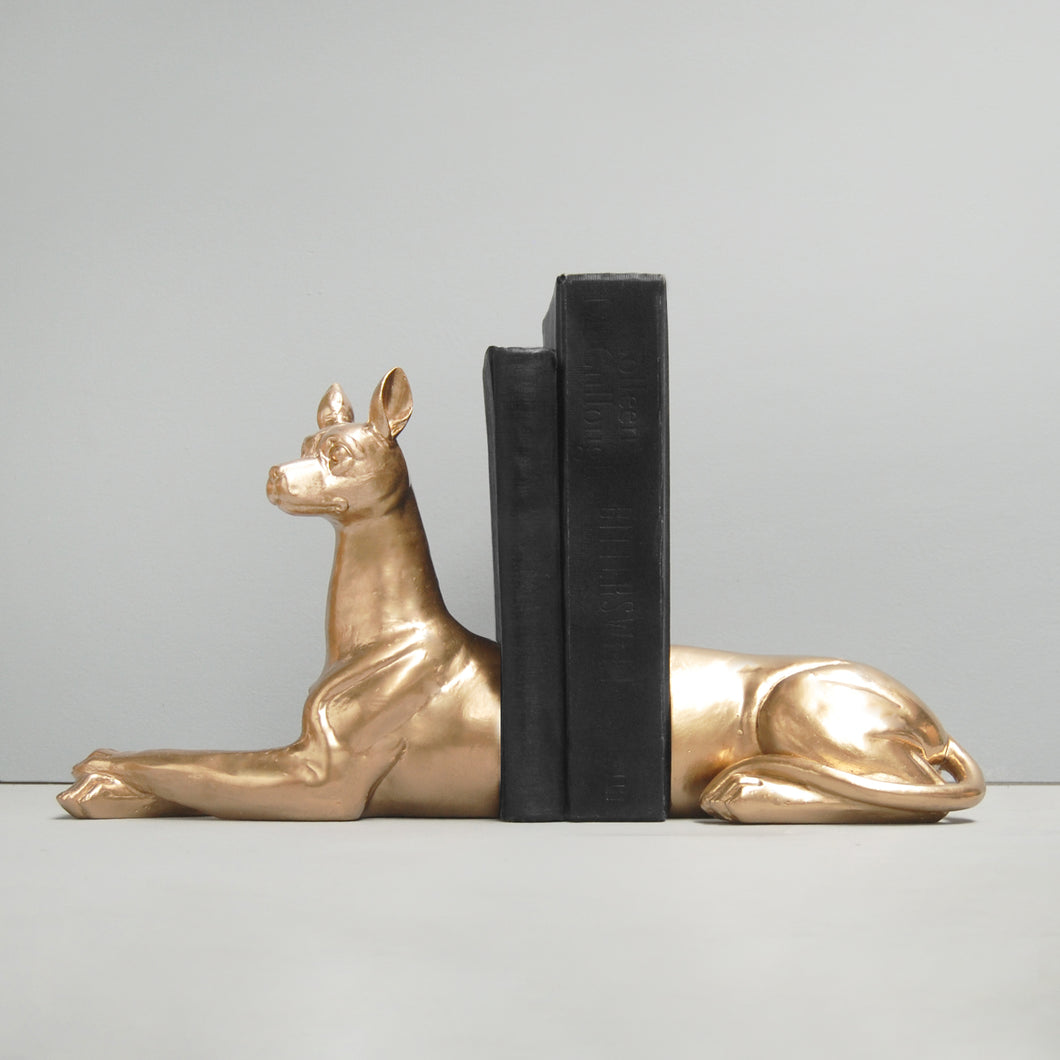 gold dog bookends dog lovers gift book lovers birthday housewarming resin bookends white moose designs australian designer homeware home decor
