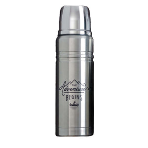Stainless Steel Flask 500ml The Adventure Begins