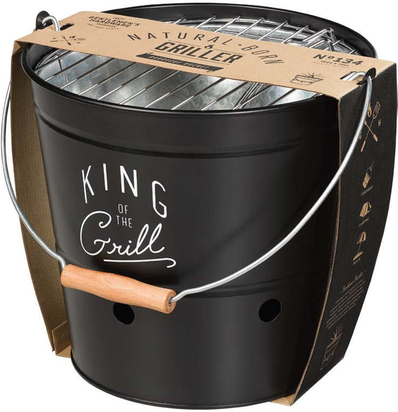 Natural born griller kraft packaging gentlemen's hardware black king of the grill bbq bucket