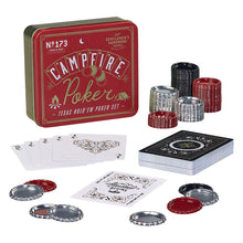 Load image into Gallery viewer, texas hold em poker set in metal tin gentelmen's hardware campfire poker