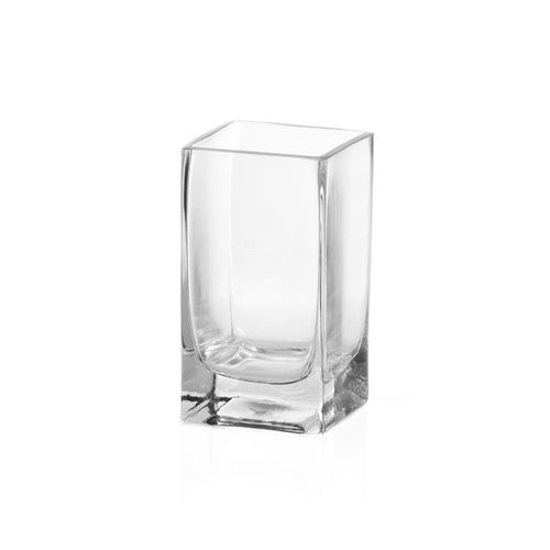 image glassware glass square tank vase 15cm tall posy vase contemporary shape