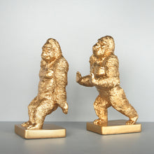 Load image into Gallery viewer, Bookends - Gorilla - Gold