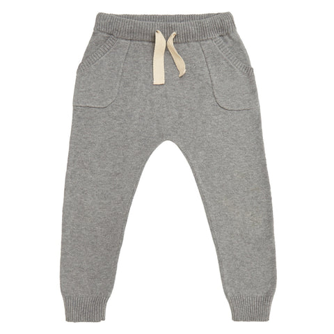 miann and co cotton knit pants in grey autumn and winter kids clothing