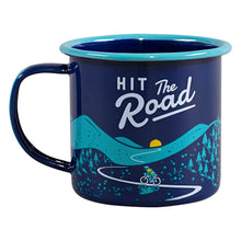 Load image into Gallery viewer, Hit the Road - Bicycle Cyclist Enamel Mug