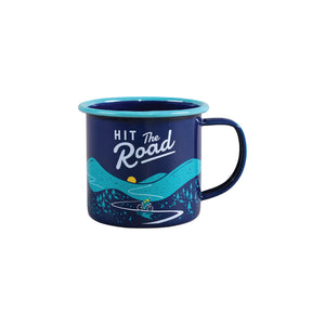 Hit the Road - Bicycle Cyclist Enamel Mug