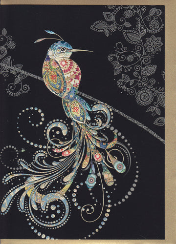 bird of paradise greeting card Bug Art M151 designed by Jane Crowther
