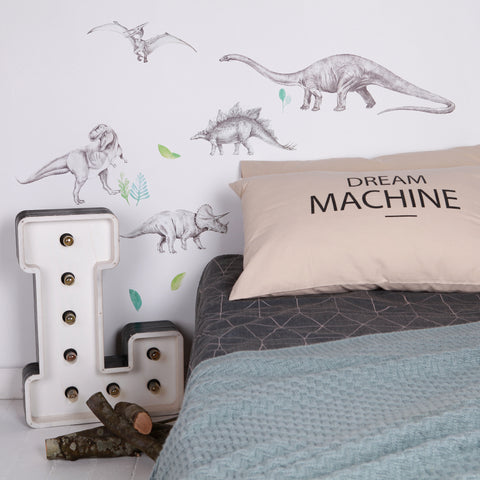 Love Mae Fabric Wall Decals - Dinosaur Invasion