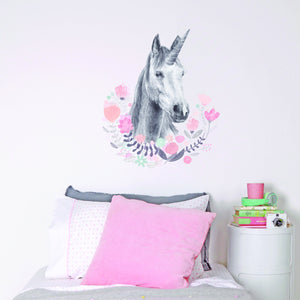 Unicorn Wall Decal Pretty Girls Bedroom Decor Love Mae